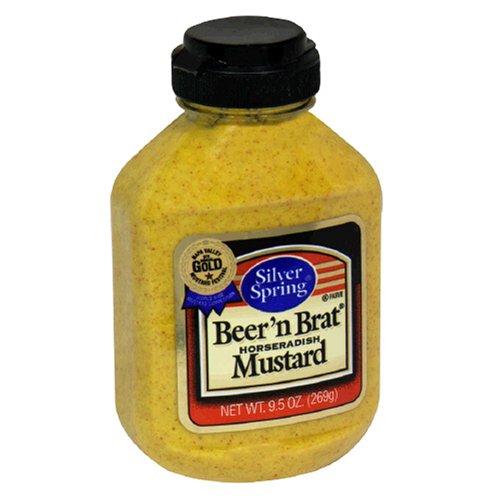 Silver Springs Mustard, Beer 'n Brat, 9.5-Ounce Squeeze Bottles (Pack ...