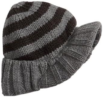 San Diego Hat Little Boys' Knit Brimmed Beanie,Grey,5-7