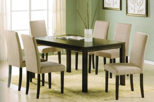 dining table parson chairs set in espresso finish cheap cheap