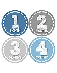 Months in Motion 371 Monthly Baby Stickers Baby Boy Months 1-12 Milestone Photo