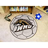 "Western Michigan Broncos NCAA ""Soccer Ball"" Round Floor Mat (29"")"