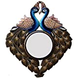 Ghanshyam Art Wood Peacock Wall Mirror (50.8 Cm X 4 Cm X 58.42 Cm, GAC053)