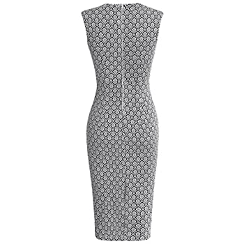 MUXXN Women's 50s 60s Vintage Sexy Fitted Office Pencil Dress