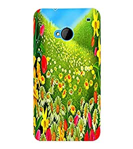 ColourCraft Flowers Back Case Cover for HTC ONE M7