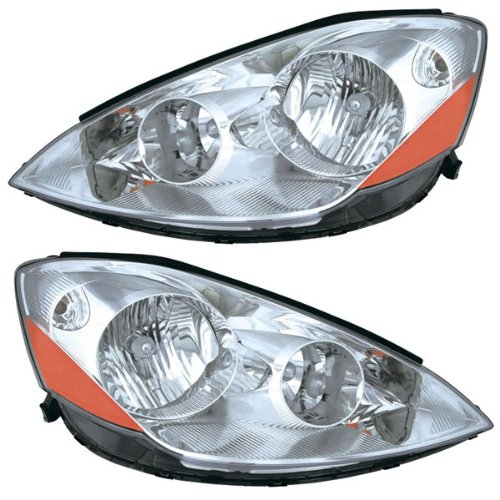 2006 2007 2008 2009 2010 Toyota Sienna Headlight Headlamp Composite Halogen (Non-HID without Xenon) Front Head Light Lamp Set Pair Left Driver And Right Passenger Side (06 07 08 09 10) (2006 Sienna Front Headlights compare prices)