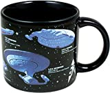 Star Trek - Starships of Star Trek Coffee Mug - Different Star Ships as well as Their Capitans - Comes in a Fun Gift Box - by The Unemployed Philosophers Guild
