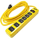 Yellow Jacket 5138 6-Outlet Heavy Duty Metal Surge Protector 1050 Joules, 15-foot High Visibility Cord