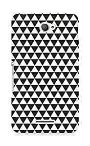 AMEZ Black n White Pattern5 Back Cover For Sony Xperia E4