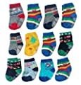 Deluxe Anti Non Skid Slip Slipper Crew Socks With Grips For Baby Toddler Boys