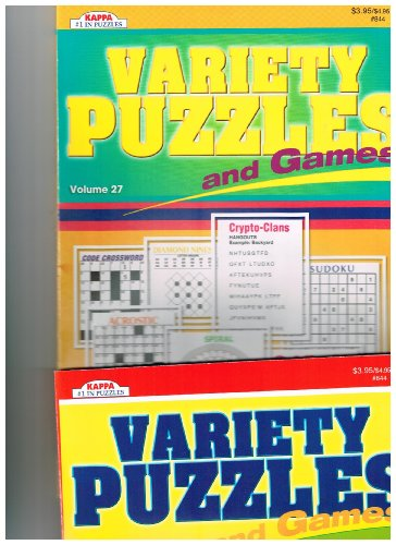 Kappa's Variety Puzzles & Games 2 Volume Set (See Seller Comments for Volumes) - 1