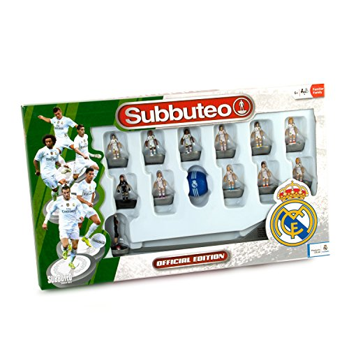 Real Madrid - Juego Subbuteo Team Box, new edition, color blanco (Eleven Force 81045)