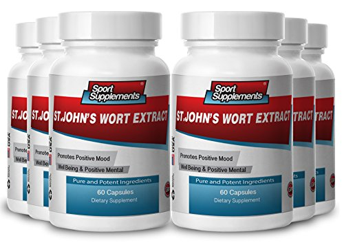 St.John'S Wort Extract Supports Anxiety Depression, Mood Swings (6 Bottles)