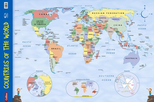 Countries of the World: Wall Map (Collins Primary Atlases) PDF