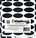Ziggyboard Chalkboard Jelly Jar Quilted Crystal Canning Labels Refill Kit 144 Oval Shape Stickers Labels Only No Marker