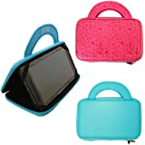 "7"" Inch EVA Tablet Hard Shell Bag Case fits TABTRONICS KAPOW / ZOOMPAD Kids Android Tablet 7 Inch Tablet - Blue"