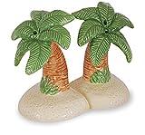 Palm Tree's on Beachy Island Salt and Pepper Shaker Set