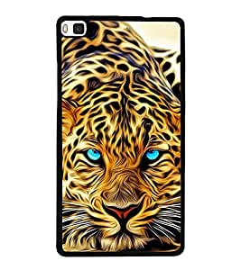 Cheetah 2D Hard Polycarbonate Designer Back Case Cover for Huawei P8
