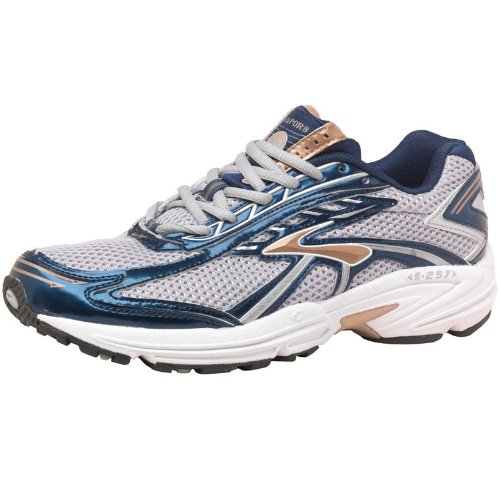 Brooks Mens Vapor 8 Stability Running Shoes Silver/Insignia/Gold