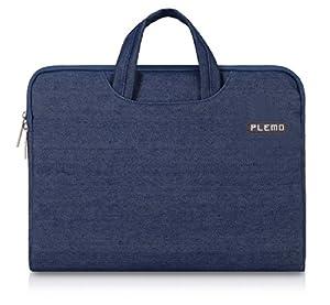 PLEMO Denim-Gewebe Tasche Hülle Aktentasche Sleeve für 33-33,8 cm (13-13,3 Zoll) Laptop / Notebook Computer / MacBook / MacBook Pro / MacBook Air, Blau
