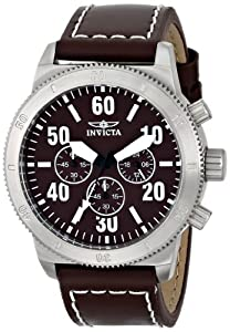 """Invicta Men's 16755 """"Specialty"""" Stainless Steel Watch with Brown Leather Band"""