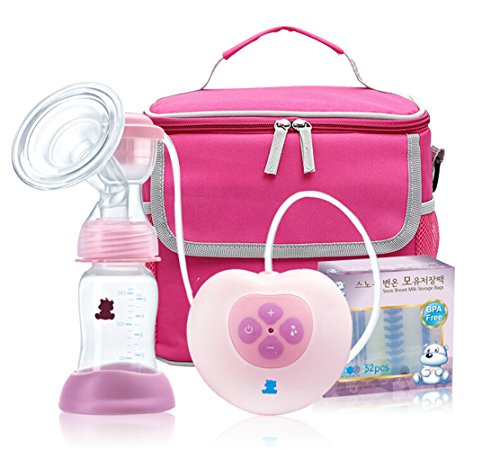 Jobell® Electronic Breast Feeding Set Automatic Breast Pump Single Electric Breast Pump With Mummy Bag+ Temperature Sensing Storage Bags