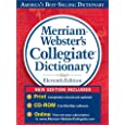 Merriam-Webster's Collegiate Dictionary, 11th Edition thumb-notched with Win/Mac CD-ROM and Online Subscription