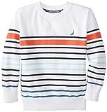 Nautica Big Boys' Striped Crew-Neck Sweater