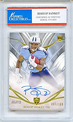 Bishop Sankey Autographed Tennessee Titans Encapsulated Trading Card - Certified Authentic