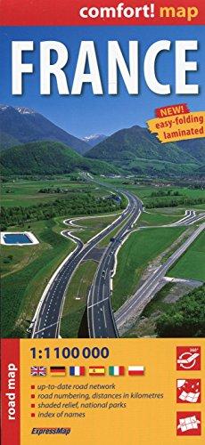 Francia, mapa de carreteras plastificado. Escala 1:1.110.000. ExpressMap.