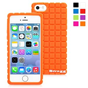 Snugg iPhone 5/5s Case - Protective, Non-Slip Silicone Case With Lifetime Guarantee (Orange) For Apple iPhone 5/5s
