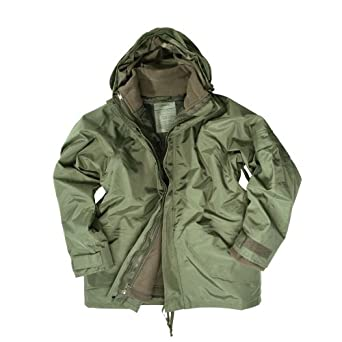 Army Waterproof ECWCS Hooded Jacket Smock Parka Fleece Olive