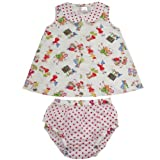 Powell Craft 100% Cotton Handmade Girls at Play Top and Knickers Set Size 12-18m