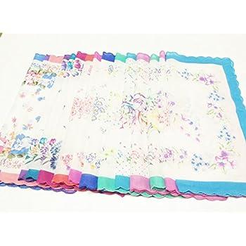 LACS Vintage Floral handkerchiefs mixed Lot Pretty Ladies Cotton Hankies