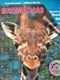 MATEMATICAS Grade 1 Teachers Edition Spanish/English Volume 1 with CD-ROM