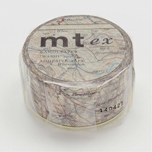 カモ井加工紙 mt ex 地図 25mm幅×10m巻き MTEX1P62