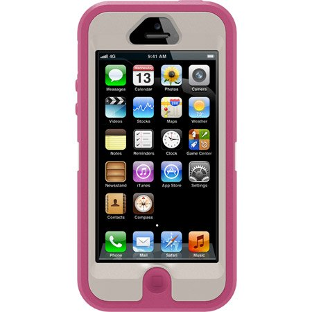 Best Price Iphone 5 Otterbox Defender Brand New with Retail Package+ Belt Clip Holster Pink/grey