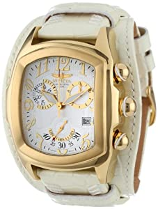 Invicta Men's 12380 Lupah Chronograph Silver Dial White Leather Watch at Sears.com