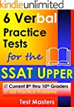 6 Verbal Practice Tests for the SSAT...