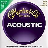 Martin マーチン アコースティックギター弦 80/20 Bronze M-170 .010-.047 エクストラライト 【国内正規品】