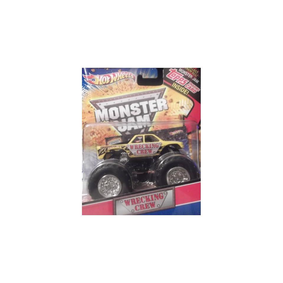 Hot Wheels Monster Jam 2010 Topps Card Wrecking Crew 164
