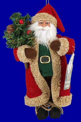 9 1/2″ tall Bring Tree Santa Doll or Ornament by Santa's Workshop Christmas Ornament