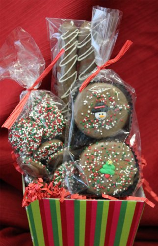 Whimsical Trio Chocolate Christmas Gift Basket
