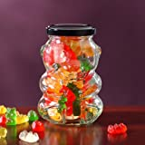 Teddy Bear Glass Gift Jar with Gummy Bears