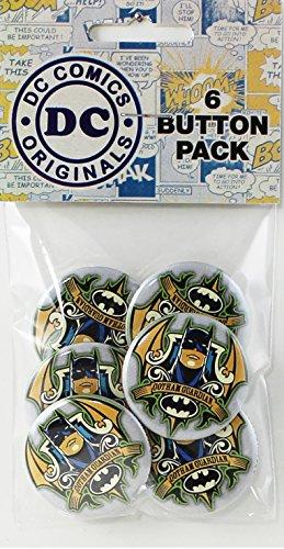 """Button set DC Comics Batman Crest 6 Individual Loose Buttons, 1.25"""""""