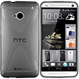 Mumbi X-TPU Protective Phone Case for HTC One Transparent Black (Not Compatible with HTC One X / X+ / S / SV / V)