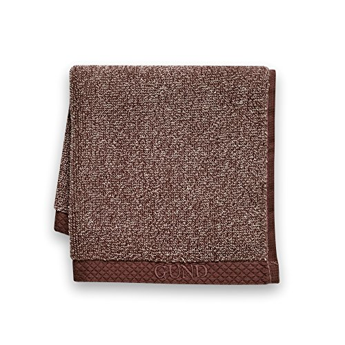 GUND Melange Face Towel, Beary Brown, 12'' By 12'' - 1