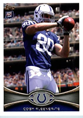 2012 Topps Football Card # 132 Coby Fleener RC - Indianapolis Colts (RC - Rookie Card) (NFL Trading Card)