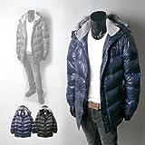 ◆【紳士メンズ】【アウター】【converse/コンバース】ボア切替ブランドロゴ入り中綿ハーフコート