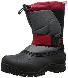 Northside Kids Zephyr Cold Weather Boot,Gray/Red,6 Kids US