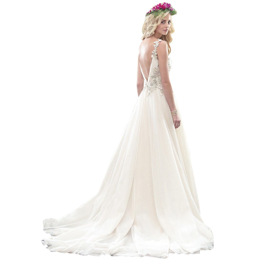 Cheap 2016 Sexy Vintage Appliqued Wedding Dresses Bridal Party Gowns 1